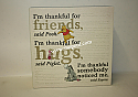Hallmark Winnie The Pooh I'm Thankful For Friends Sentiment Hundred Acre Wood HUN2012