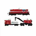 Hallmark 2013 Lionel Minneapolis & St. Louis Work Train set of 3 miniature ornaments QXM8502