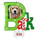 Hallmark 2016 Bark Dog Photo Holder Ornament QGO1121