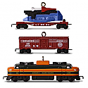 Hallmark 2016 Lionel 2533W Great Northern Freight Set Train Miniature Ornament Set Of 3 QXM8504