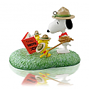 Hallmark 2014 Peanuts Learning the Ropes Ornament The Peanuts Gang Snoopy and Woodstock QXI2556
