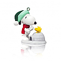 Hallmark 2014 Peanuts Winter Fun with Snoopy Miniature Ornament 17th in the series QXM8503