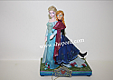 Jim Shore Sisters Forever Frozen Elsa And Anna Musical Figurine Enesco 4049101