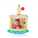 Hallmark 2014/2015 Babys First Birthday Photo Holder Ornament QHX1199