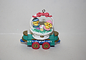 Hallmark 1999 Flatbed Car Spring Ornament 4th In The Cottontail Express Series QEO8387 Damaged Box