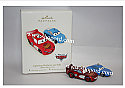 Hallmark 2007 Lightning McQueen and Sally Disney Pixar Cars Ornament set of 2 QXD4449
