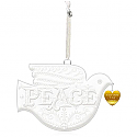 Hallmark 2015 Peace On Earth Porcelain Dove Premium Ornament QGO1769