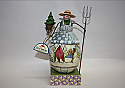 Jim Shore Frosty Farmer Small Snowman with Tree Pitchfork Figurine 4010359