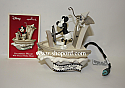 Hallmark 2003 Steamboat Willie Disney Ornament Walt Disney Mickey Mouse Motion QXD5047 Box Slightly Bent