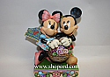 Jim Shore Disney Traditions Love in Bloom Mickey and Minnie with Flower Basket Figurine 4032589
