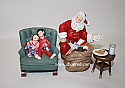 Hallmark 2002 Membership Ornaments Santas Big Night 4pc Set QXC2002