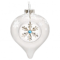 Hallmark 2016 Let It Snow Glass Ornament QGO1461