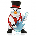 Hallmark 2015 Rock And Roll All Nite Snowman With Guitar Musical Ornament QGO1017