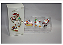 Hallmark 2008 Santas Merry Crew Miniature Ornament set of 3 QP1141