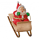 Hallmark 2016 Sledding Santa Mary Hamilton Ornament QGO1454