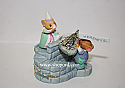 Hallmark 1999 A Kiss For You Hersheys Merry Miniatures Set of 3 Figurine Third and Final In Series QFM8497