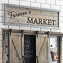 """Farmers Market"" Wall Sign"