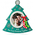 Hallmark 2014 Our First Christmas Photo Holder Ornament Tree Shaped QGO1173