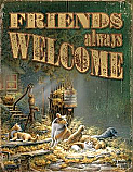 Terry Redlin- Friends Always Welcome Tin