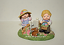Hallmark 1999 Merry Miniatures Bashful Friends Set of 3 Figurine QSM8459