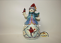 Jim Shore Season Of Cheer Snowman With Cardinal Tribute Figurine 4047766