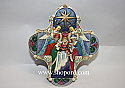 Jim Shore Nativity Cross Hanging Ornament 4034418