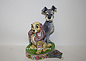Jim Shore Disney Lady and The Tramp Opposites Attract Figurine 4046040