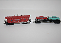 Hallmark 2001 Lionel Car Carrier And Caboose set of 2 Miniature Ornament 3rd And Final in the Norfolk and Western Series QXM5265
