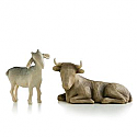 Willow Tree Ox & Goat Nativity Figurines