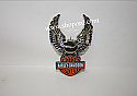Hallmark 2000 Bar And Shield Ornament Harley Davidson Motor Cycles QEO8544 Damaged Box