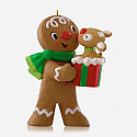 Hallmark 2014 Limited Quantities Kisses for Kacey Ornament Ginger Bread QXE3756