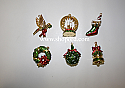 Hallmark 2003 Symbols Of Christmas set of 6 Keepsake Ornament Club KOC QXC4597