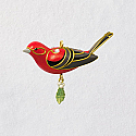 Hallmark 2018 Keepsake Red Tanager Miniature Ornament QXM8176