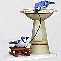 Hallmark 2018 Keepsake Bathing Blue Jays Ornament QX9473