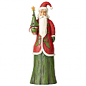 Jim Shore Folklore Santa with Tree Figurine 4058764
