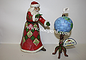 Jim Shore Joy Is In The Journey Set of 2 Santa With Globe Figurine 4053708