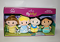 Hallmark itty bittys Disney Princess Collector Set of 4 Belle Cinderella Snow White Jasmine Plush KID3280