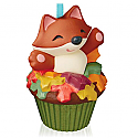 Hallmark 2015 Sly And Sweet Fox Ornament 2nd In The Keepsake Cupcake Series QHA1037
