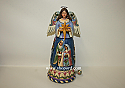 Jim Shore Rejoice This Holy Night Angel With Rotating Nativity Scene Musical Figurine 4044665