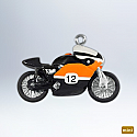 Hallmark 2012 XRTT 1972 750 Road Racer Miniature Ornament 14th and Final Harley Davidson Motorcycle series QXM9004