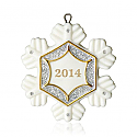 Hallmark 2014 Little Snowflake Miniature Ornament QXM8533