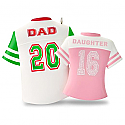 Hallmark 2016 Dad And Daughter Jersey Shirt Ornament QGO1111