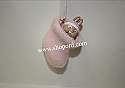 Hallmark 2002 Babys First Christmas Pink Bootie Girl Ornament QX8806