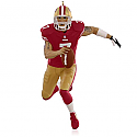 Hallmark 2015 Colin Kaepernick San Francisco 49ers NFL Football Ornament QXI2717