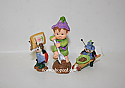 Hallmark 1997 Merry Miniatures Getting Ready For Spring Figurine Set of 3 QSM8575