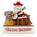 Hallmark 2015 Holiday Hoedown Santa and Friends Musical Jingle Bells Ornament QGO1337