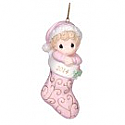 Precious Moments 2014 Baby's First Christmas Girl Ornament 141005