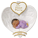 Hallmark 2017 Keepsake African-American Baby's First Christmas Ornament QSM7795