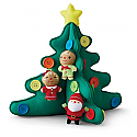 Hallmark 2015 Christmas Tree Fabric Ornament Tabletop Plush With Buttons QGO1707