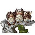 Jim Shore See No Evil, Hear No Evil, Hoot No Evil Figurine 4052050